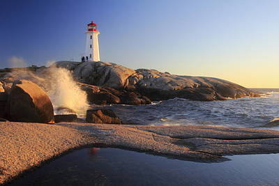 Photograph - Peggy's Cove Lighthouse Nova Scotia Canada by Gary Corbett