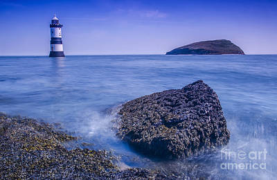 Puffin Digital Art - Penmon Lighthouse by Darren Wilkes