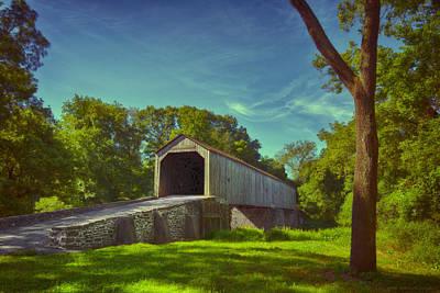 Pennsylvania Covered Bridge Art Print by Phil Abrams