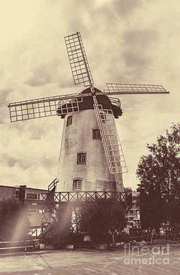 Old Mill Scenes Photograph - Penny Royal Windmill In Launceston Tasmania  by Jorgo Photography - Wall Art Gallery