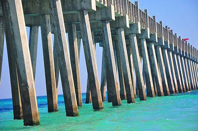 Photograph - Pensacola Pier by Vonda Barnett