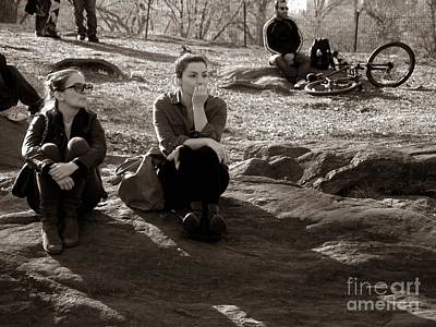 Photograph - Pensive - In Central Park by Miriam Danar