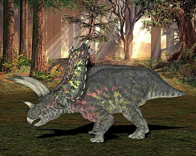 Paleozoology Photograph - Pentaceratops Dinosaur by Friedrich Saurer
