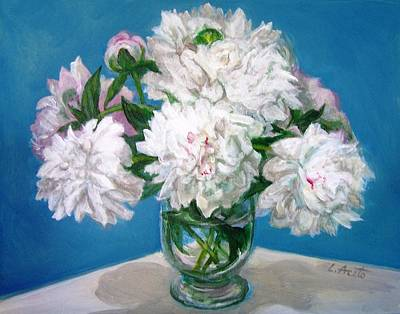 Art Print featuring the painting Peonies II by Laura Aceto