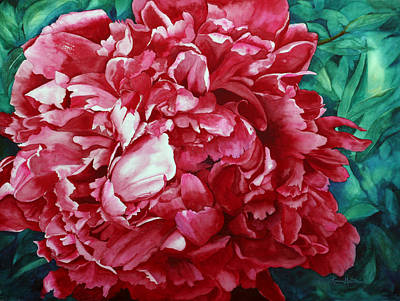 Painting - Peony Puzzle by Karen Mattson
