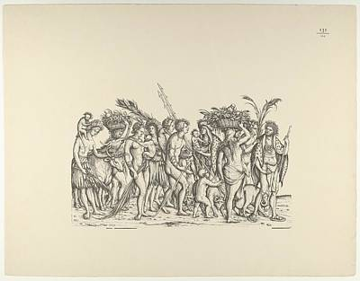People From Calicut, From The Triumphal Art Print by Hans Burgkmair