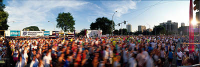 Crowd Scene Photograph - People Participating In A Marathon by Panoramic Images