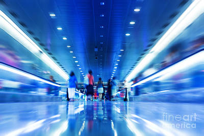 Subway Photograph - People Rush In Subway by Michal Bednarek