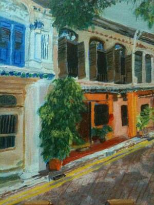 Art Print featuring the painting Peranakan House by Belinda Low