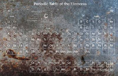 Periodic Table Of The Elements Art Print by T Lang