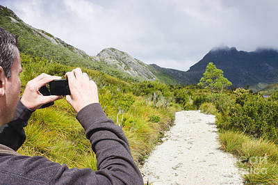 Person On Expedition Tour Of Cradle Mountain Art Print by Jorgo Photography - Wall Art Gallery