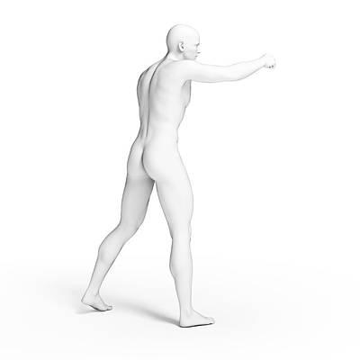 Punching Photograph - Person Punching by Sebastian Kaulitzki