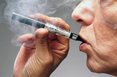 Person Smoking E Cigarette Art Print