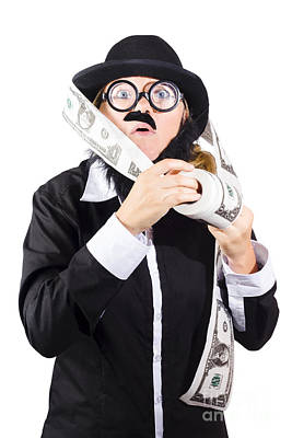 Earnings Photograph - Person With Roll Of Money by Jorgo Photography - Wall Art Gallery