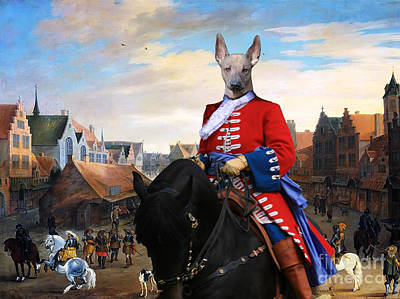 Peruvian Painting - Peruvian Hairless Dog Art Canvas Print by Sandra Sij