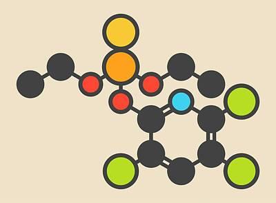 Pesticide Molecule Art Print