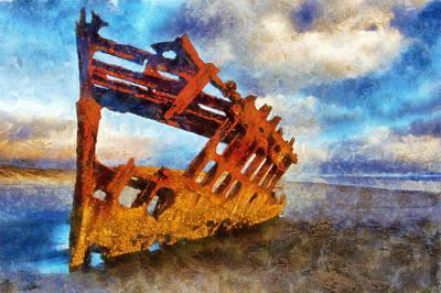 Peter Iredale Digital Art - Peter Iredale Wreck by Kaylee Mason