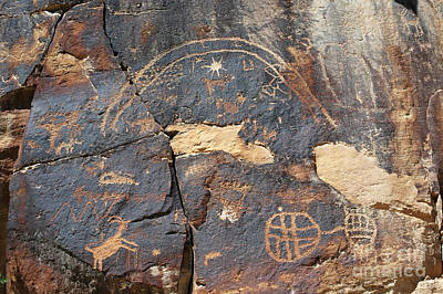 547p Petroglyph - Nine Mile Canyon Art Print