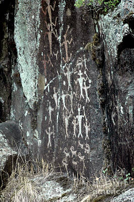 Photograph - 602p Petroglyphs by NightVisions