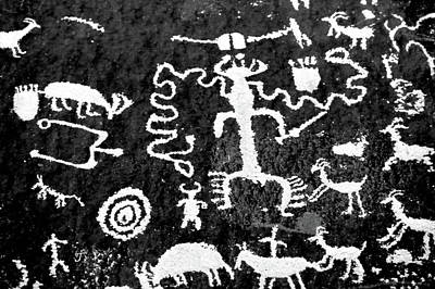 Newspaper Rock Photograph - Petroglyphs Of Newspaper Rock State by Panoramic Images