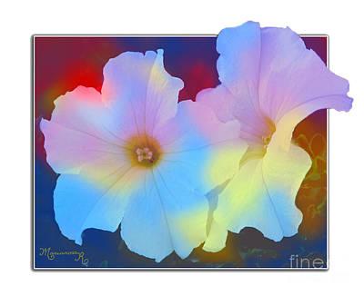 Photograph - Petunias by Mariarosa Rockefeller