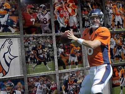 Peyton Photograph - Peyton Manning Denver Broncos by Joe Hamilton
