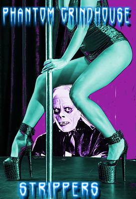 Grindhouse Digital Art - Phantom Grindhouse Strippers by Ryan Robertson