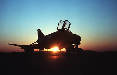 Navy Jets Photograph - Phantom Sunrise by Peter Chilelli