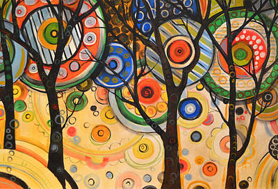 Nature Abstract Painting - Phases Of The Sun by Amy Giacomelli