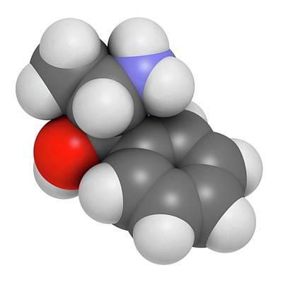 Cough Medicines Photograph - Phenylpropanolamine Drug Molecule by Molekuul