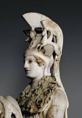 Statue Portrait Photograph - Phidias 490 -431 Bc. Varvakeion Athena by Everett