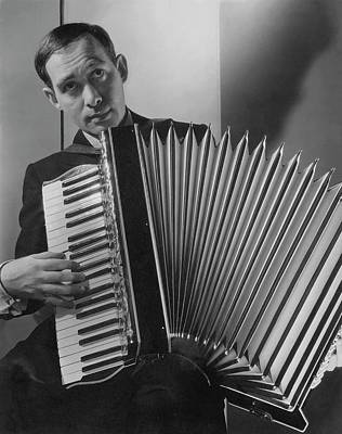 Accordion Photograph - Phil Baker With An Accordion by Edward Steichen