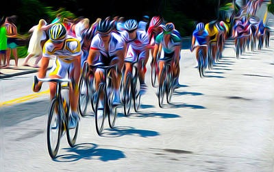 Bike Races Photograph - Philadelphia Bike Race by Bill Cannon