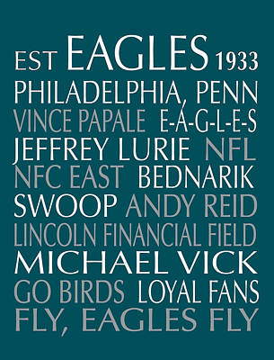 Philadelphia Eagles Art Print by Jaime Friedman