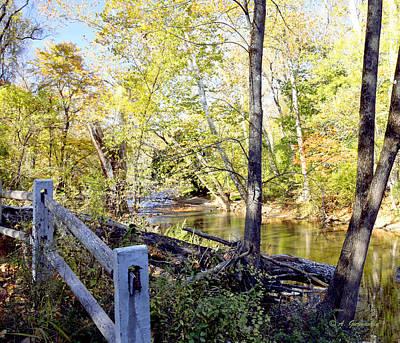 Pennypack Photograph - Philadelphia Landmark Pennypack Creek In Autumn by A Gurmankin