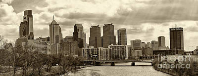 Philadelphia Skyline Photograph - Philadelphia Skyline 1 by Jack Paolini