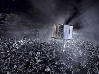 Philae Lander On Comet 67pc-g Art Print by Science Source