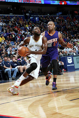 Photograph - Phoenix Suns V New Orleans Pelicans by Layne Murdoch