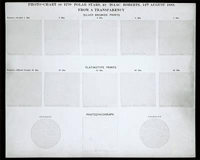 Photochart Of Polar Stars Art Print by Royal Astronomical Society