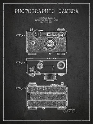 Vintage Camera Digital Art - Photographic Camera Patent Drawing From 1938 by Aged Pixel