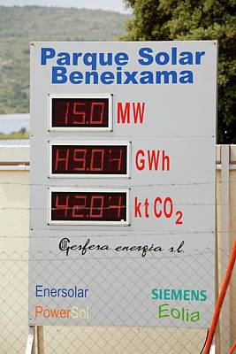 Photovoltaic Panels At Beneixama Art Print