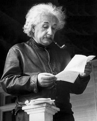 Scientist Photograph - Physicist Albert Einstein by Underwood Archives