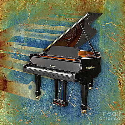 Piano Collection. Art Print by Marvin Blaine