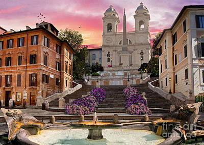 Peace Tower Wall Art - Digital Art - Piazza Di Spagna by Dominic Davison