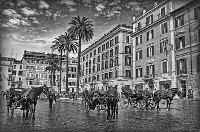 Photograph - Piazza Di Spagna B/w by Hanny Heim