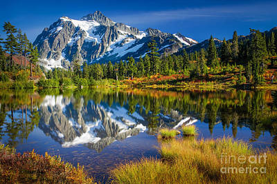 Cascade Mountains Photograph - Picture Lake by Inge Johnsson