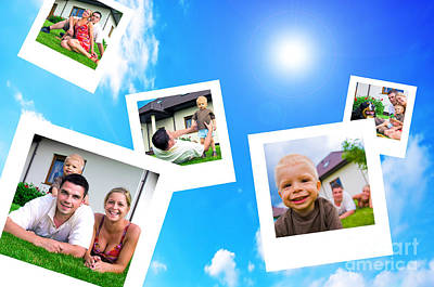 Pictures Of Happy Family Print by Michal Bednarek