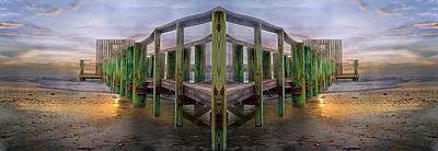 Walkway Digital Art - Pier by Betsy Knapp