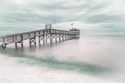 Teal Wall Art - Photograph - Pier by Martin Steeb
