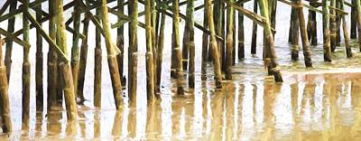 Photograph - Pier Pilings by Alice Gipson